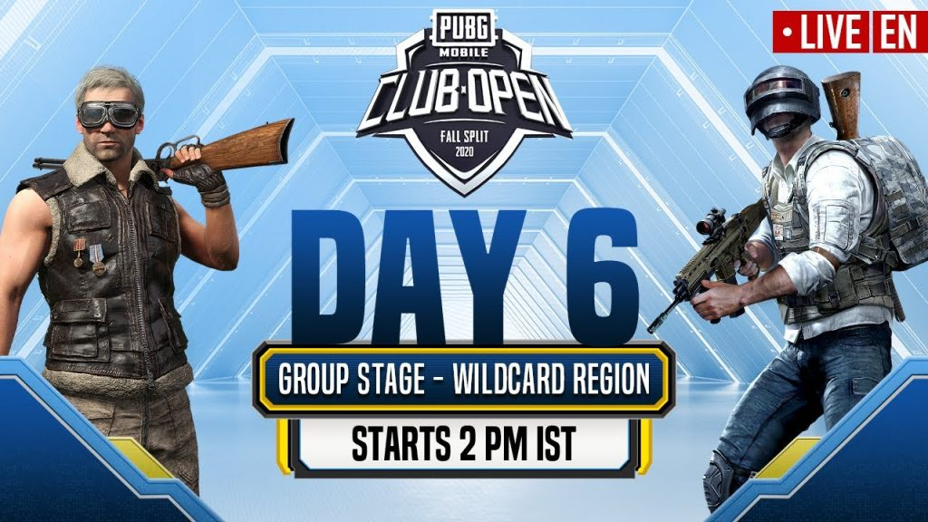[EN] PMCO Wildcard Group Stage Day 6 | Fall Split | PUBG MOBILE CLUB OPEN 2020 by PUBG MOBILE Esports