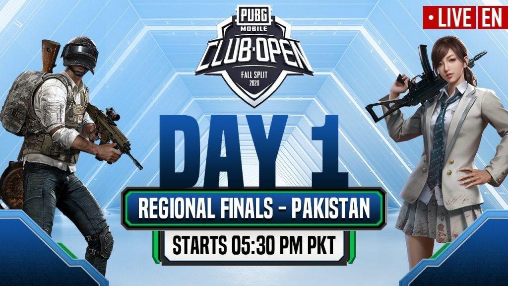 [EN] PMCO Pakistan Regional Finals Day 1 | Fall Split | PUBG MOBILE CLUB OPEN 2020 by PUBG MOBILE Esports