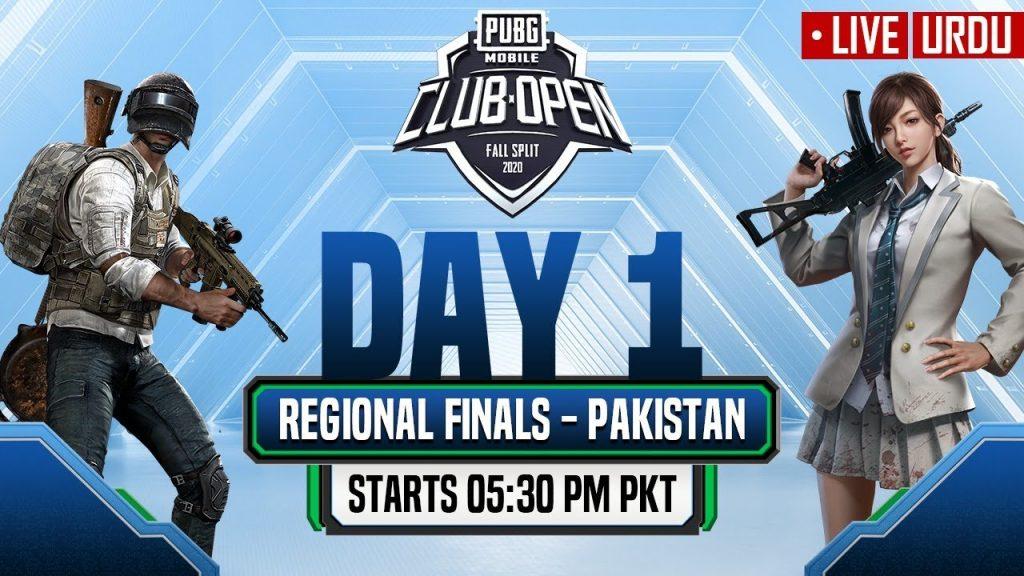 [Urdu] PMCO Pakistan Regional Finals Day 1 | Fall Split | PUBG MOBILE CLUB OPEN 2020 by PUBG MOBILE Esports