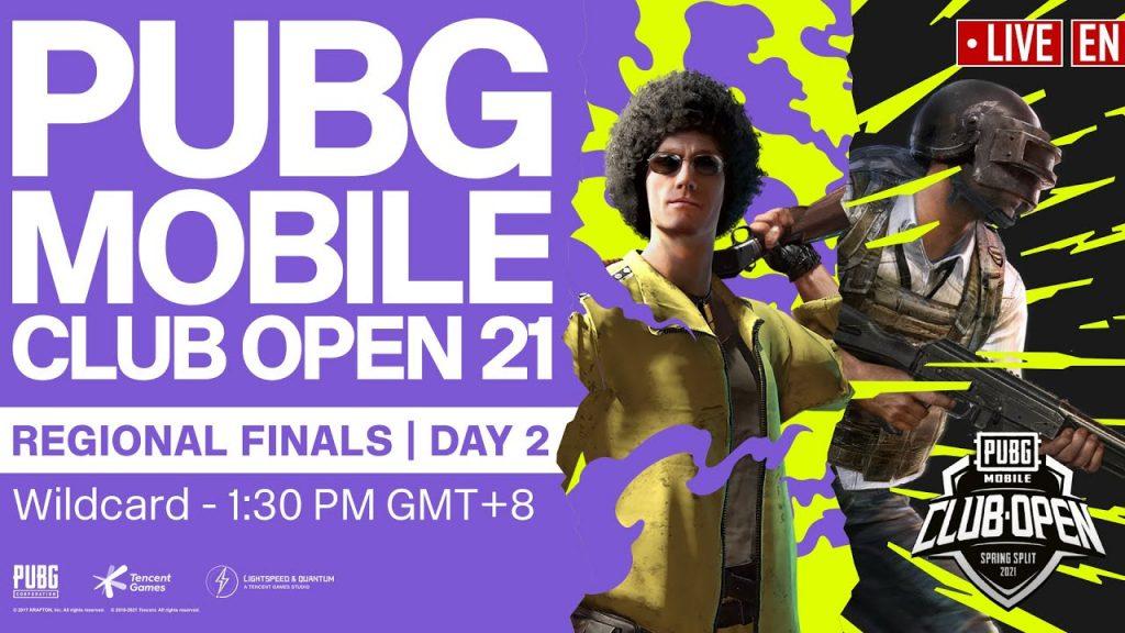 [EN] PMCO Wildcard Regional Finals Day 2 | Spring Split | PUBG MOBILE Club Open 2021 by PUBG MOBILE Esports