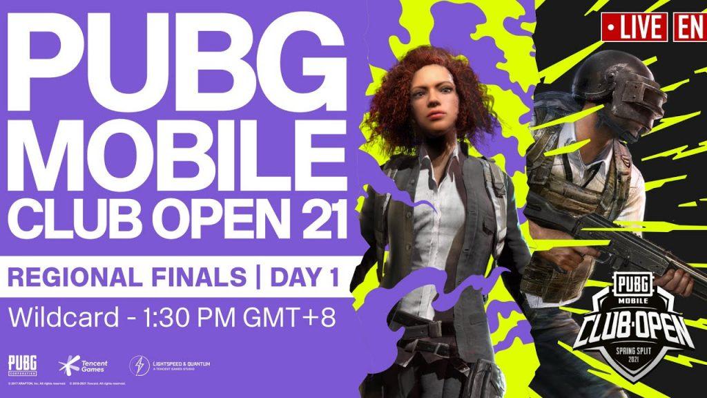 [EN] PMCO Wildcard Regional Finals Day 1 | Spring Split | PUBG MOBILE Club Open 2021 by PUBG MOBILE Esports