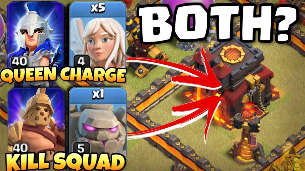 QUEEN CHARGE and KILL SQUAD in SAME ATTACK!! Best TH10 Attacks No Siege | Clash of Clans by Clash with Eric – OneHive