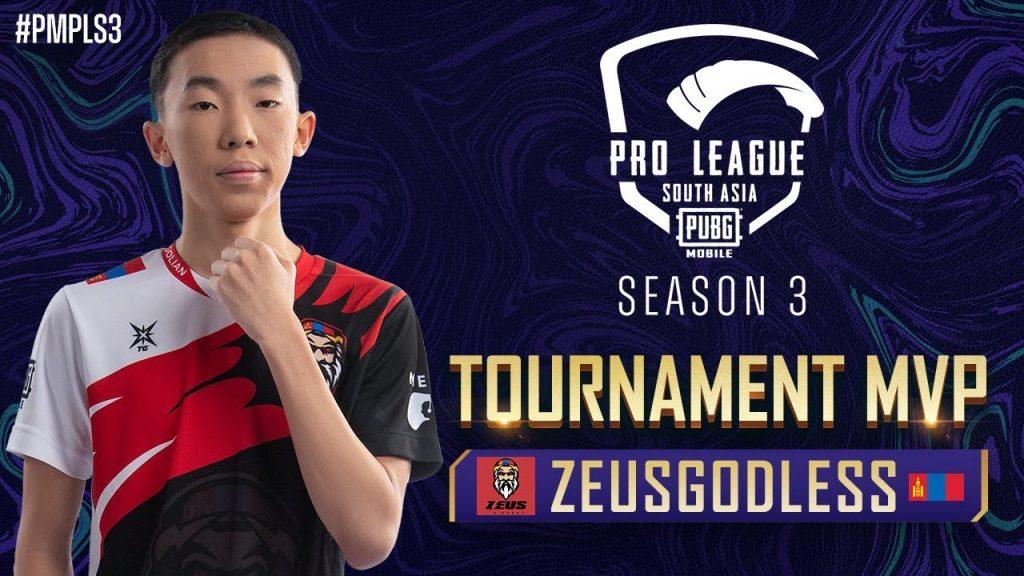 PMPL South Asia S3 | Tournament MVP – ZEUSGODLESS by PUBG MOBILE Esports