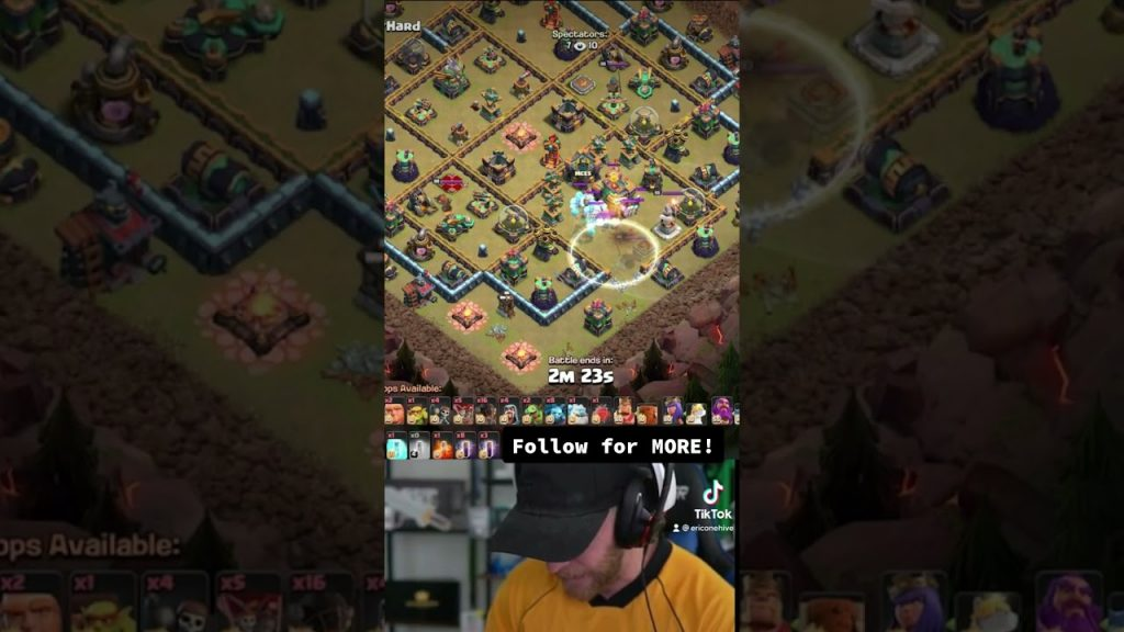 MIND BLOWING attack from STARS of the Queen Walkers! Clash of Clans #shorts by Clash with Eric – OneHive